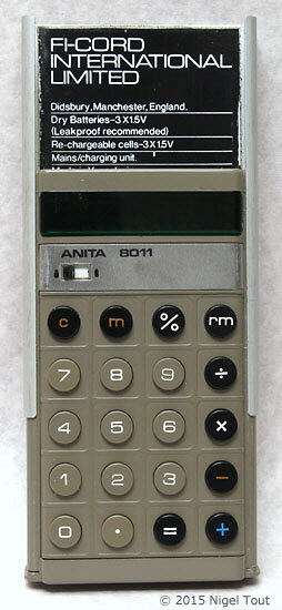 ANITA 8011 with raised back cover